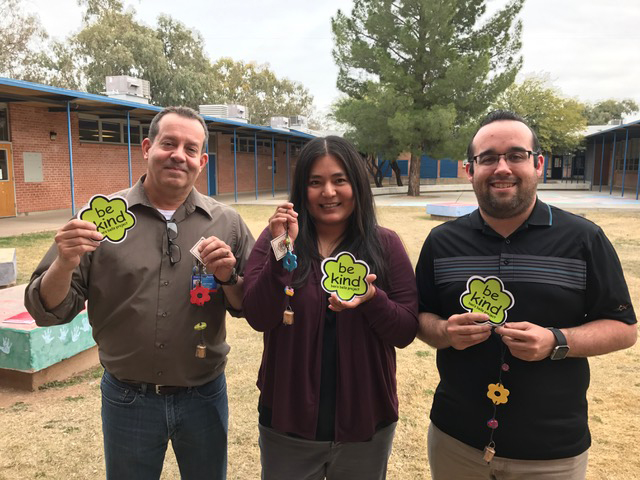 Three counselors 'belled' for their support to students and staff.
