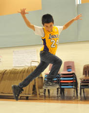 Photo of student dancing
