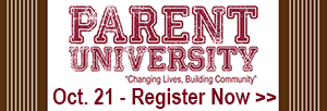 Parent University, Oct. 21 - Register now!