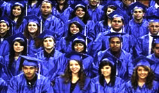 image of graduate students in caps and gowns