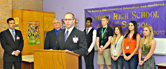 Photo of announcement at Sabino