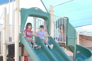 Photo of students on playground
