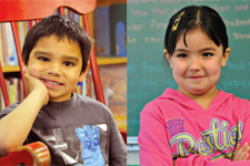 images of 2 kindergarten students